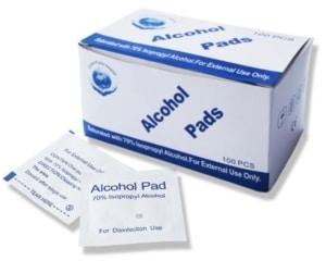 Isopropyl alcoholdoekjes 3 x 6 cm (100 stuks)