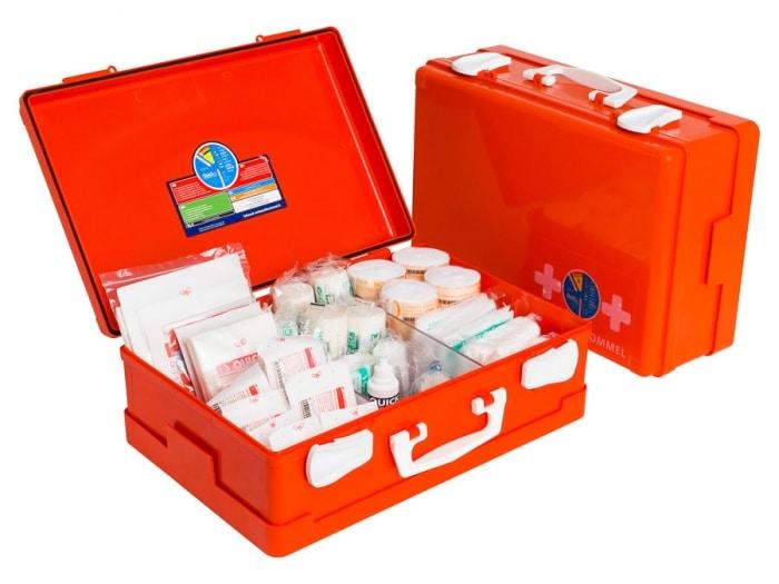 EHBO-koffer voor de bouw